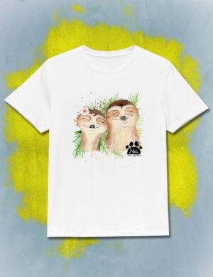 T-shirt z uśmiechniętymi jeżykami