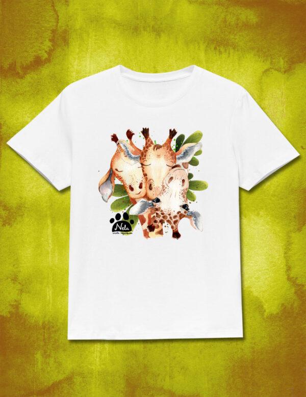 T-shirt z trzema żyrafami