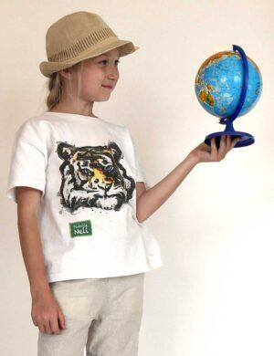 T-shirt filmowy z tygrysem