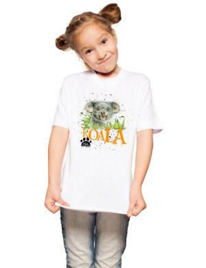 T-shirt z koalą w trawie