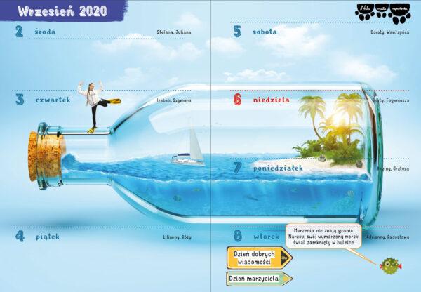 MORSKI PRZYGODNIK NELI 2020/2021 - 365 DNI POD WODĄ Z NELĄ - KALENDARZ SZKOLNY - NOWOŚĆ