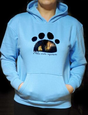 Bluza Jaguar - kolor błękitna z logiem Nela Mała Reporterka