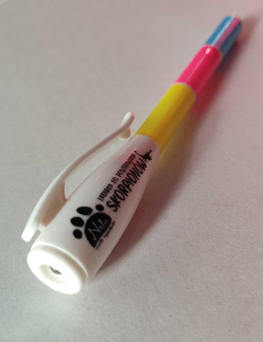Niewidzialny flamaster z UV - 3 kolory